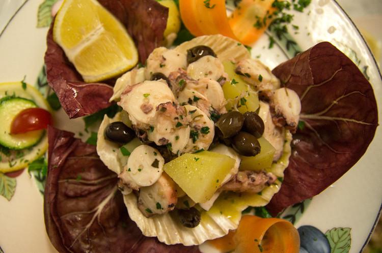 Insalata di Polpo patate e olive taggiasche